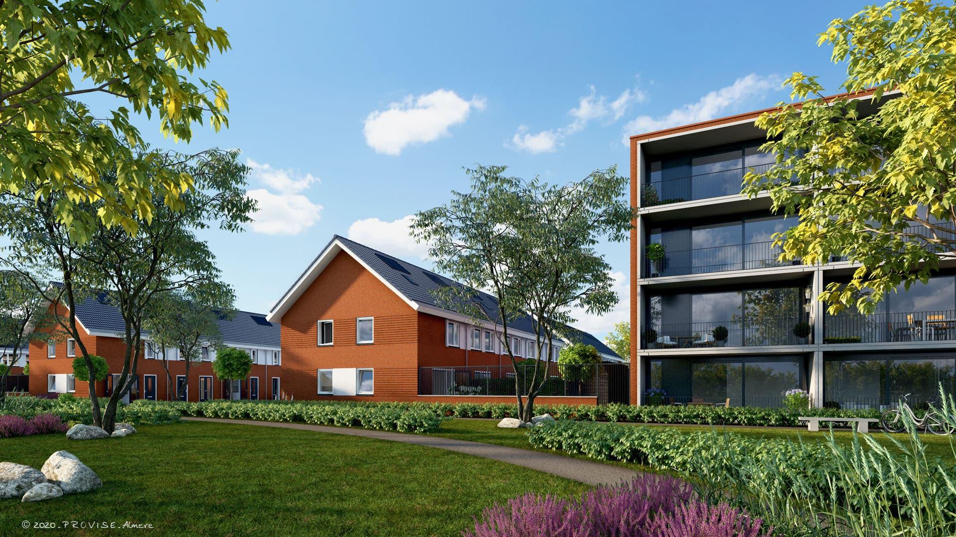 Bouwen in een bestaande wijk : goed en gasloos wonen in Leeuwarden.